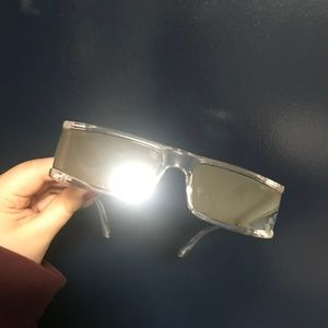 NWOT clear reflective sunglasses